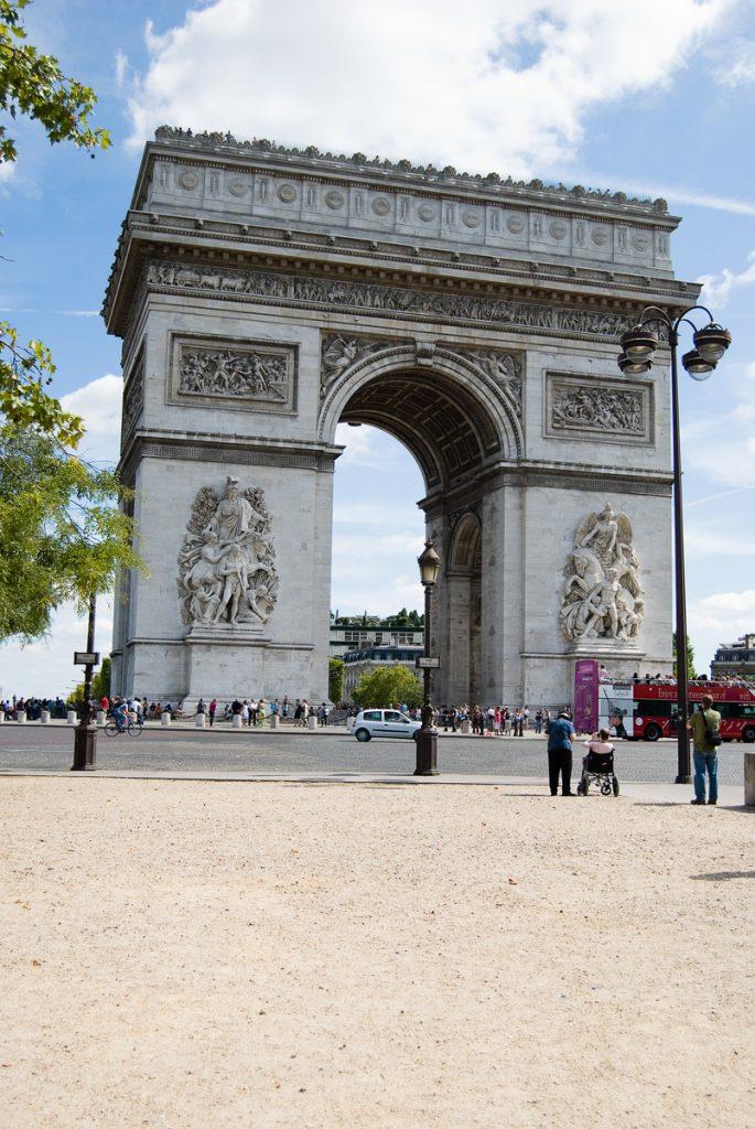 Łuk Triumfalny i rondo w Paryżu