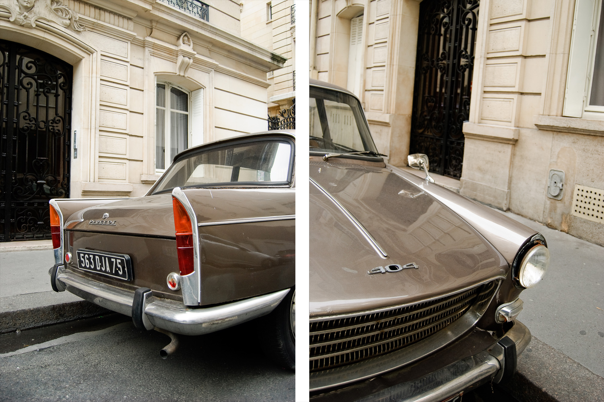 Peugeot 404 w Paryżu