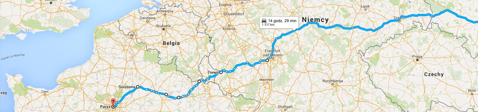 Trasa do Paryża