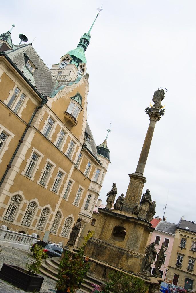 Šumperk - ratusz i kolumna Najświętszej Maryi Panny