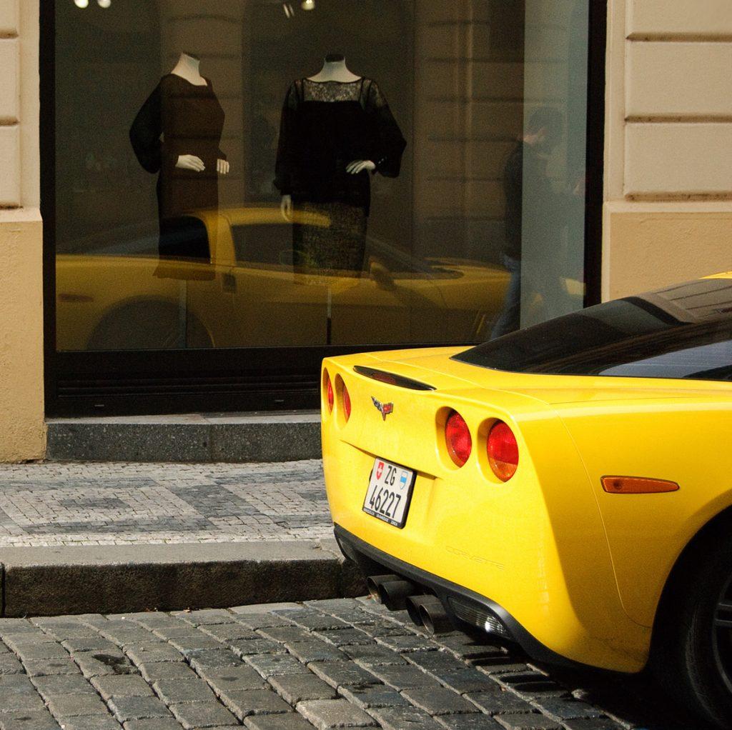 Corvette C6 w Pradze