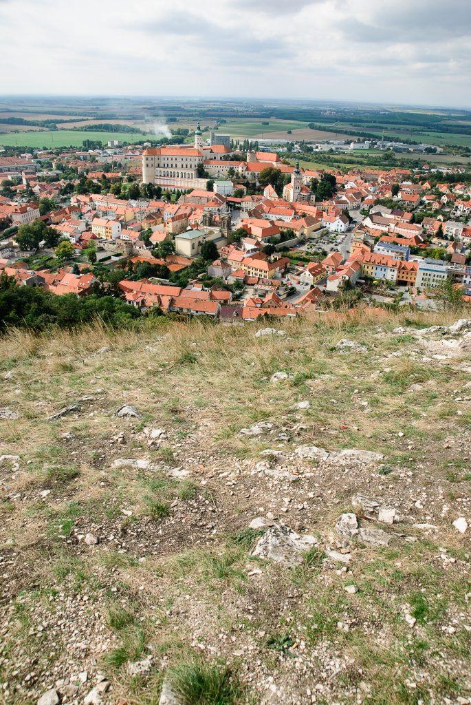 Panorama Mikulova z Świętej Góry