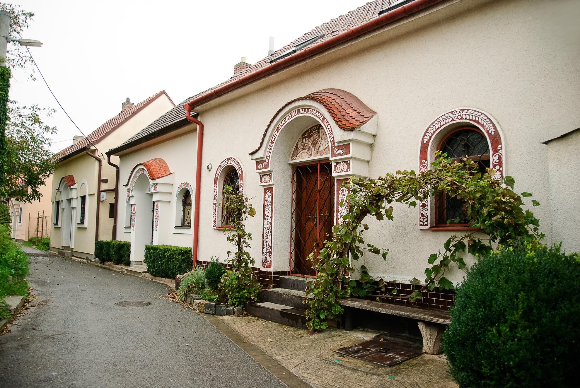Domki winne w Mutěnicach