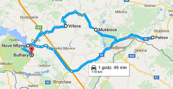 Trasa po wioskach winiarskich na Morawach