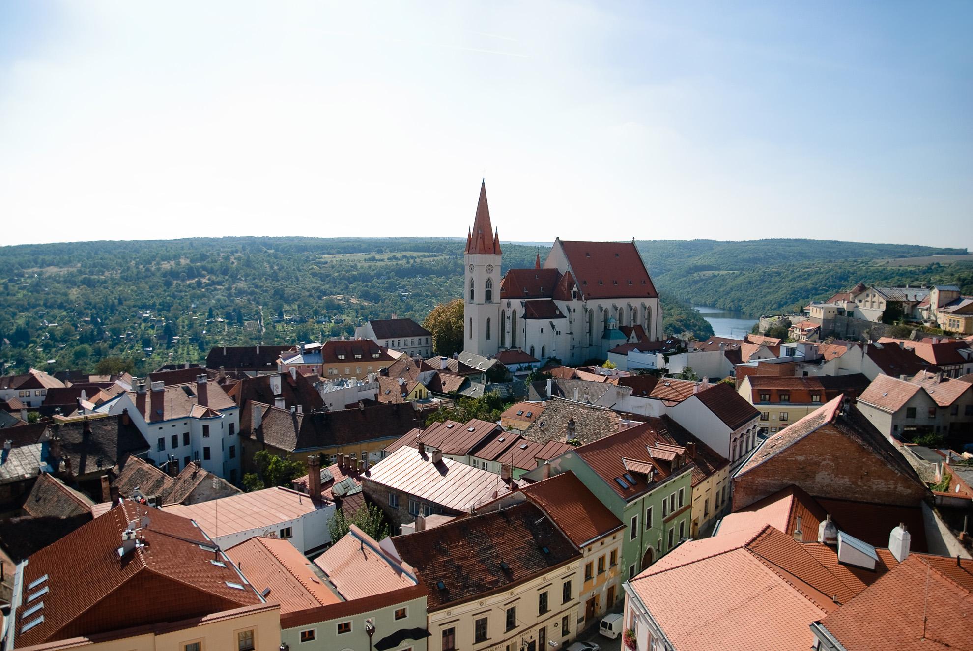 Panorama Znojma z wieży ratuszowej