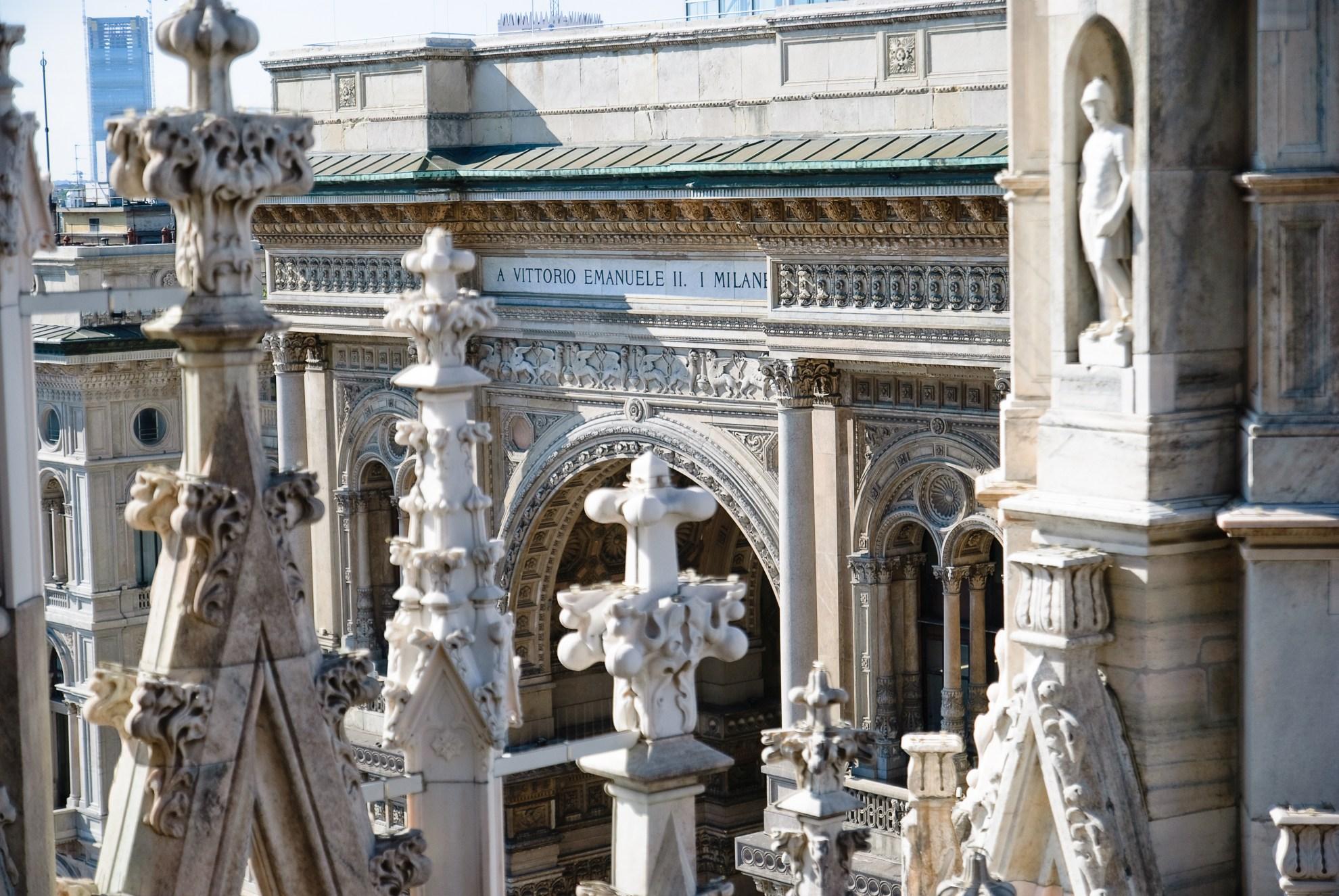 Vittorio Emanuele w Mediolanie widziana z katedry