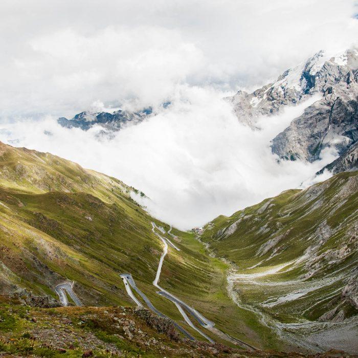 Przełęcz Stelvio - widok na Alpy