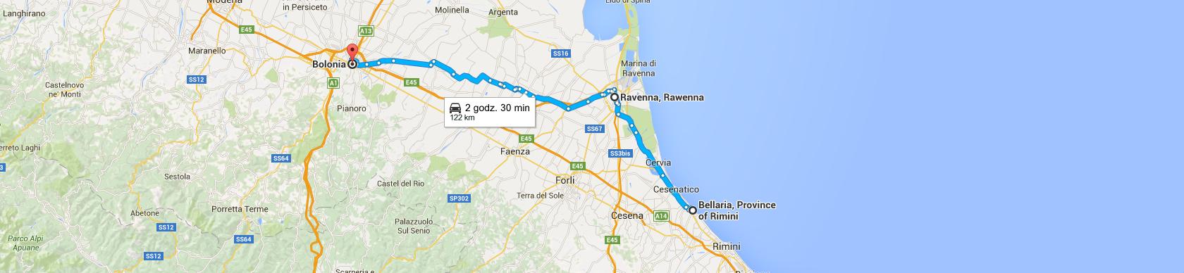 Trasa Bellarii do Bolonii
