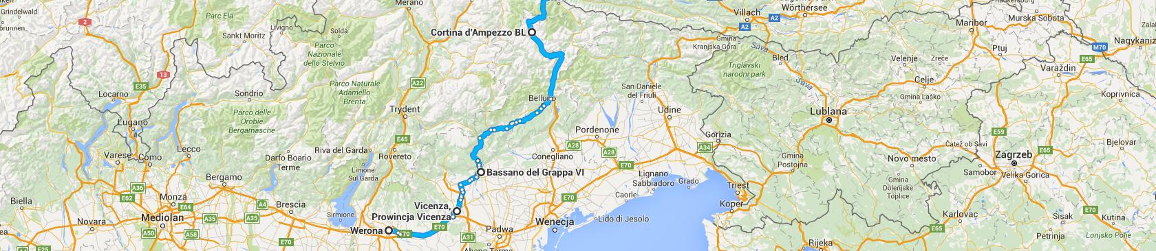 Trasa z Verony do Wiednia