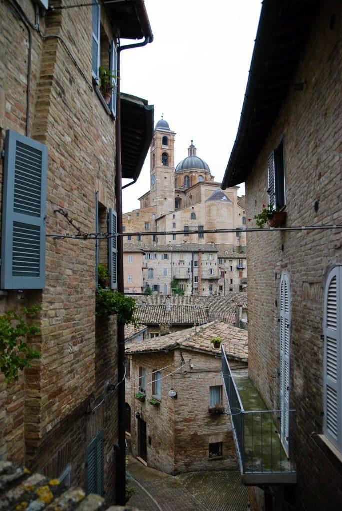 Urbino i widok na Duomo di Urbino