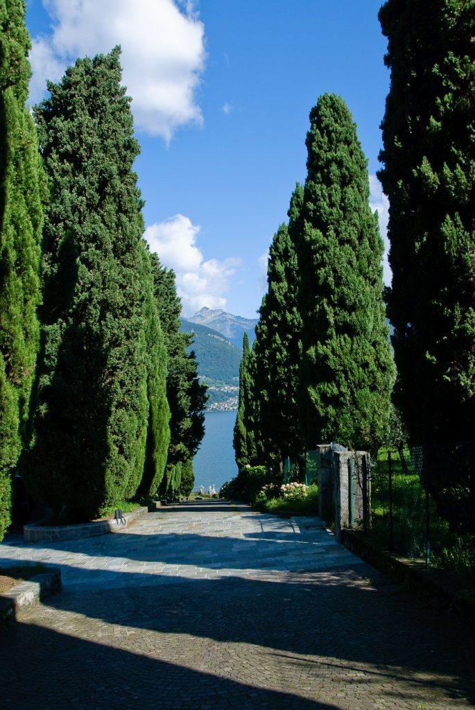 Abbazia di Piona - widok na jezioro Como