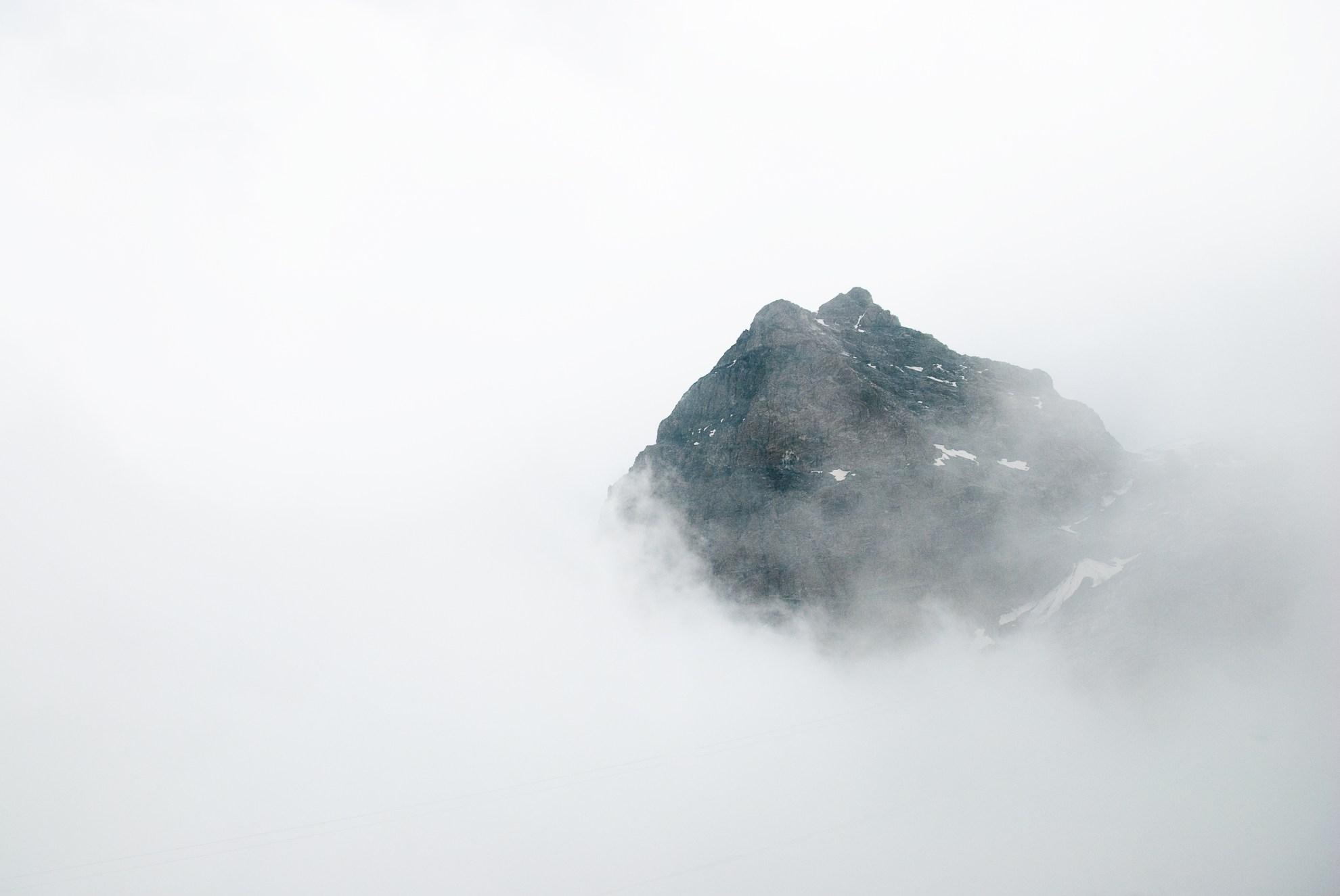 Alpy za chmurami