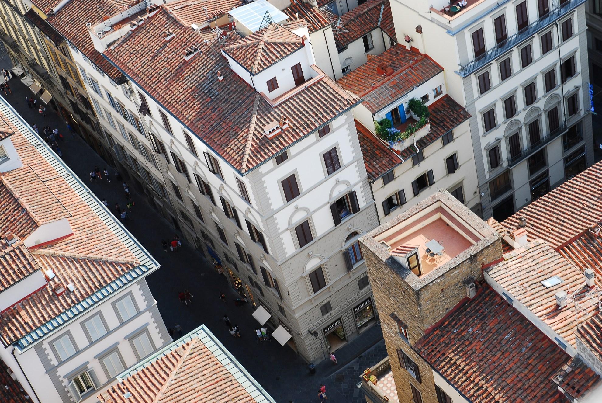 Taras na dachu we Florencji