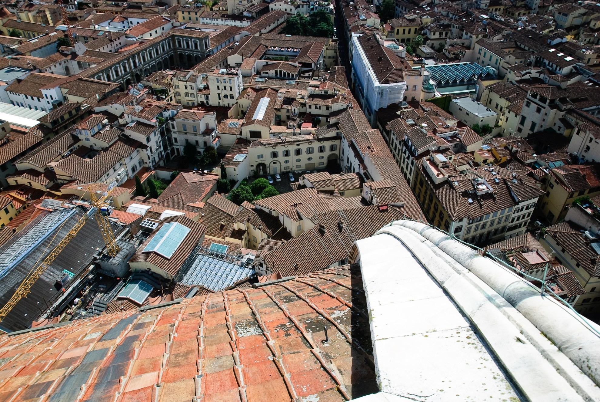 Panorama Florencji widziana z kopuły katedry