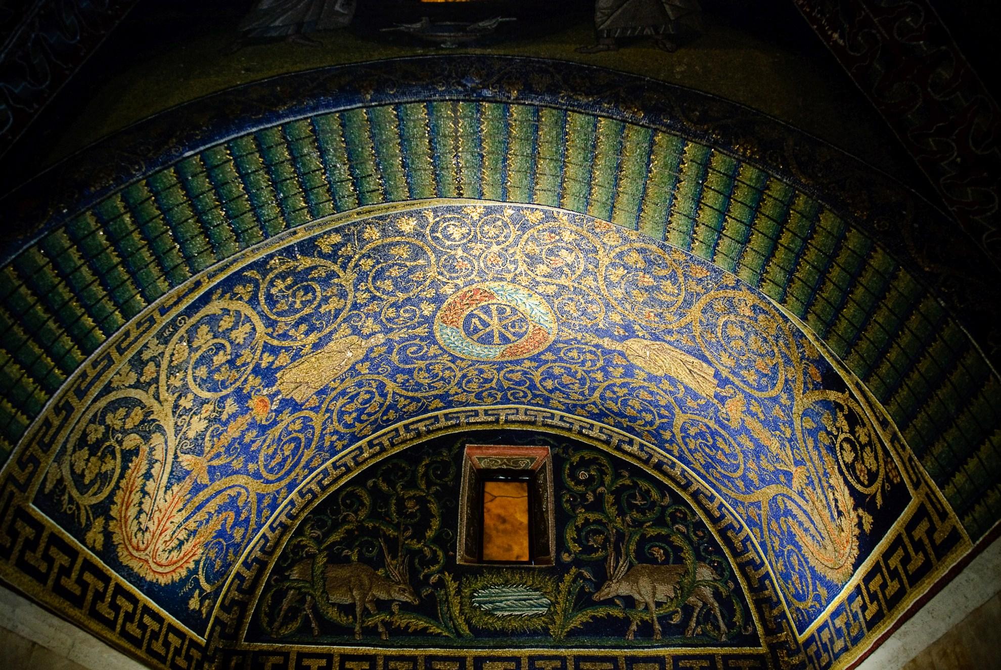 Mozaiki w Rawennie - Mauzoleum Galli Placydii