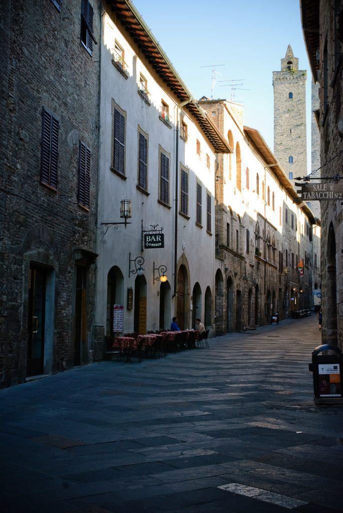San Gimignano o poranku