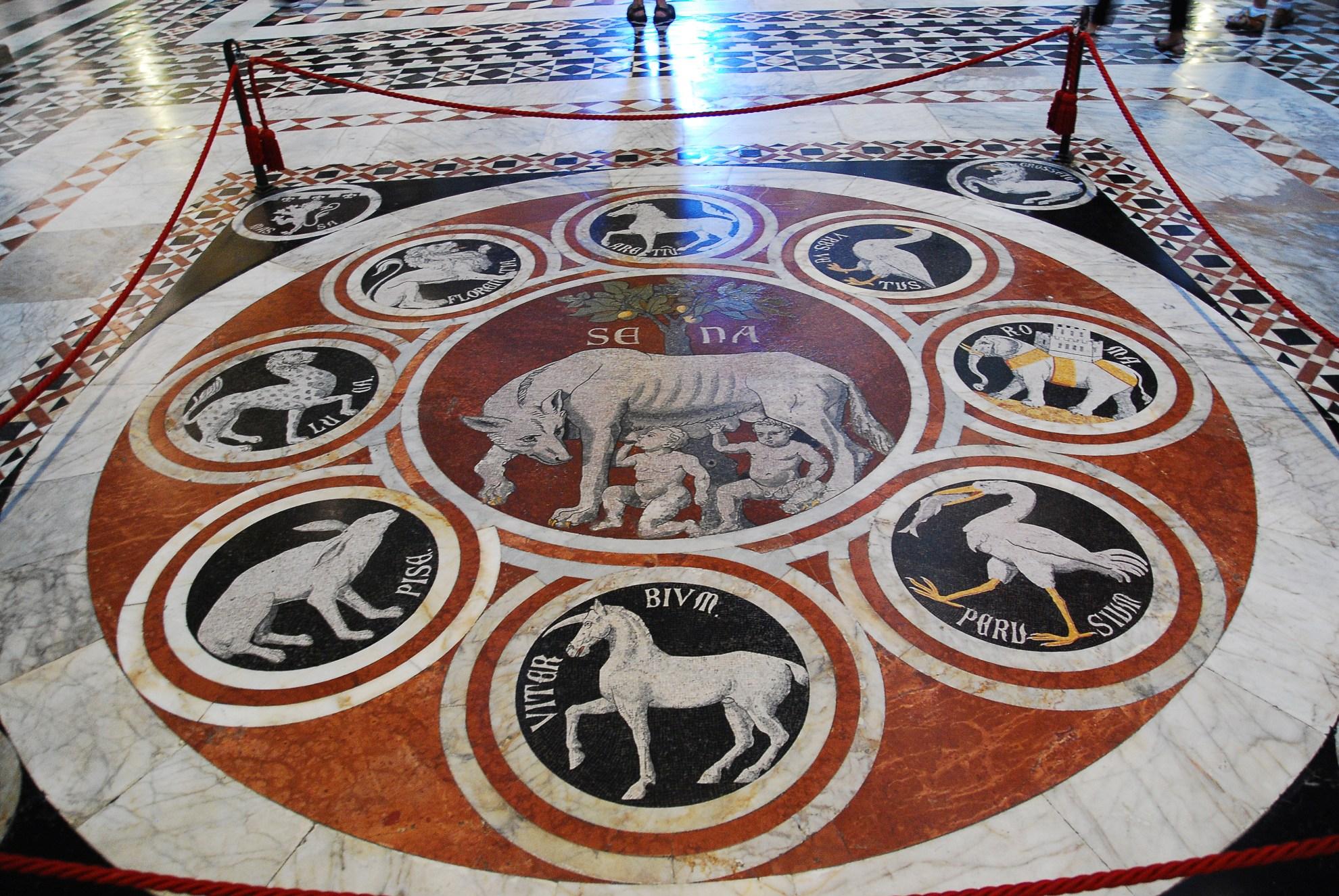 Posadzka katedry w Sienie