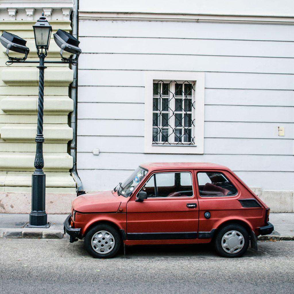 Fiat 126p w Budapeszcie