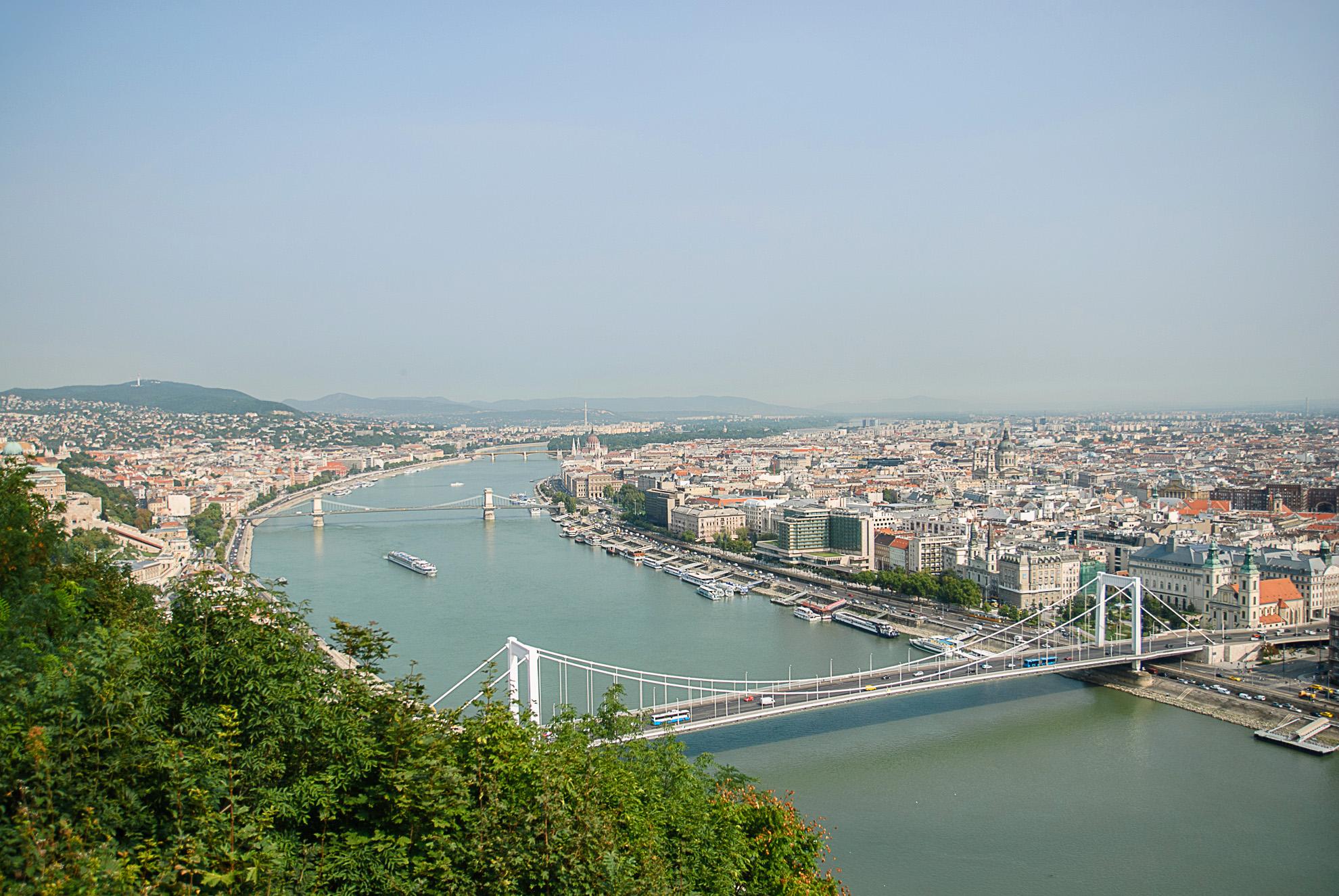 Panorama Budapesztu z Góry Gellérta