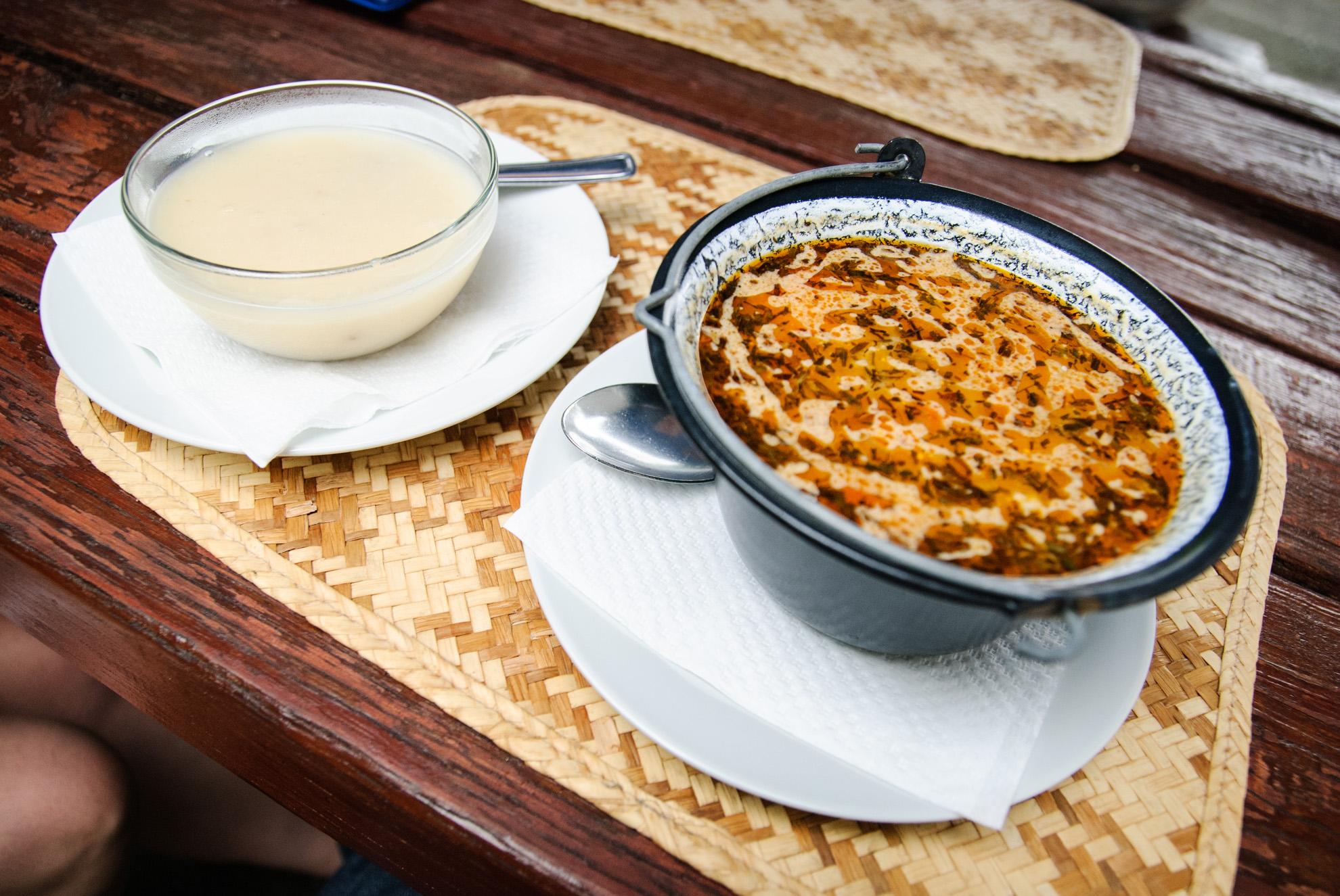 Zupa-krem z Tokaju i zupa pieczarkowa z estragonem