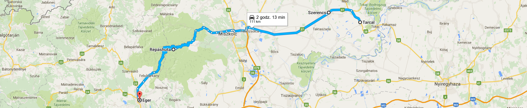 Trasa z Tarcalu do Egeru