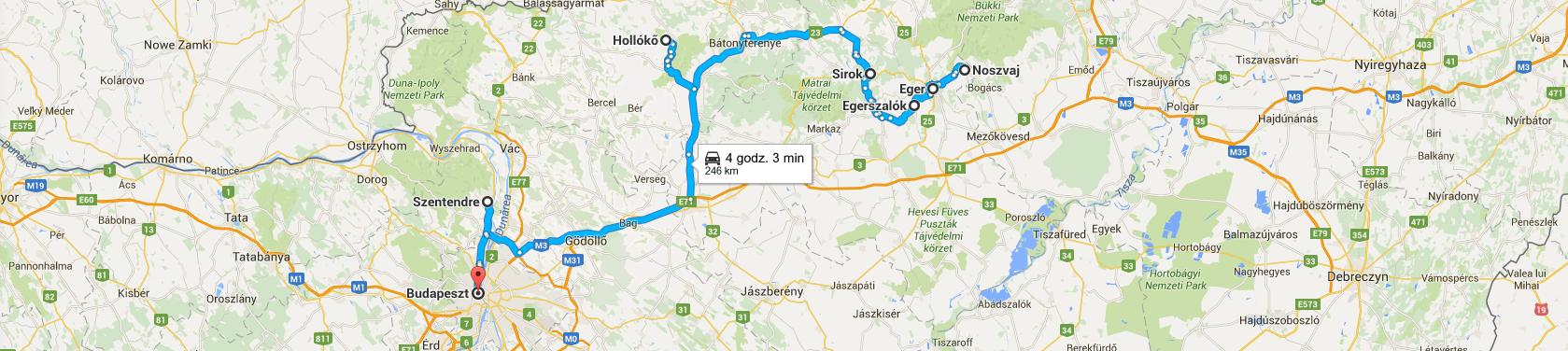 Trasa z Egeru do Budapesztu