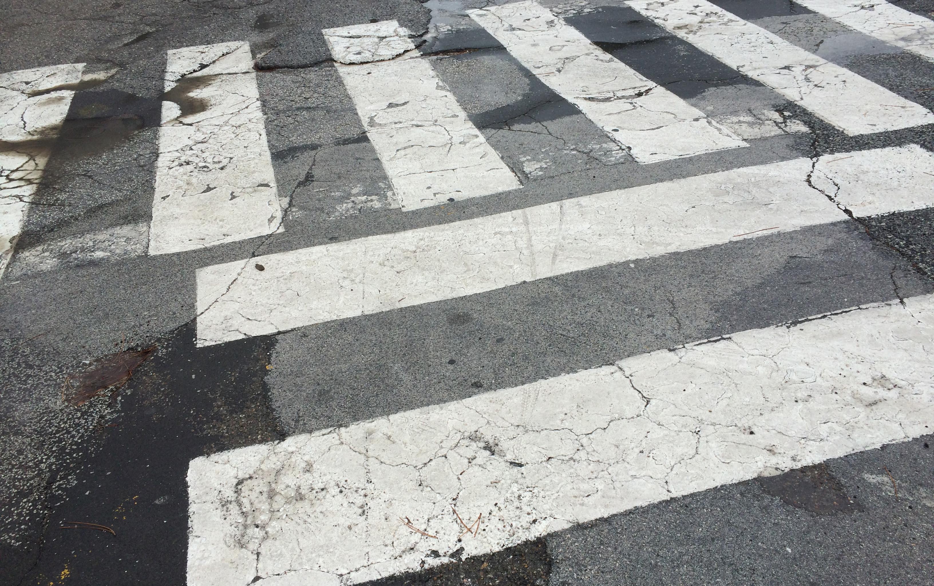 Przejście do przejścia dla pieszych w Umbrii