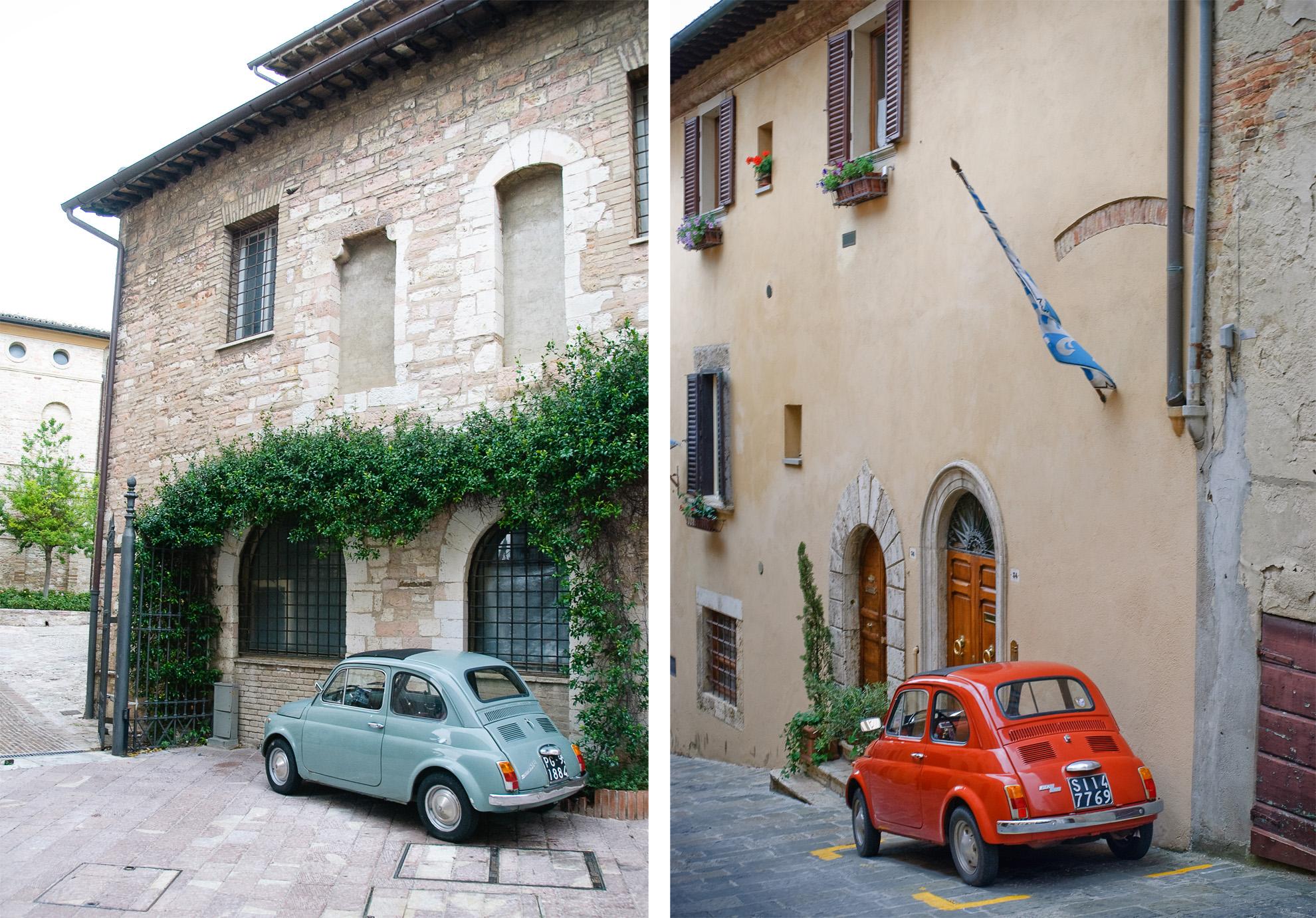 Stary Fiat 500 we Włoszech