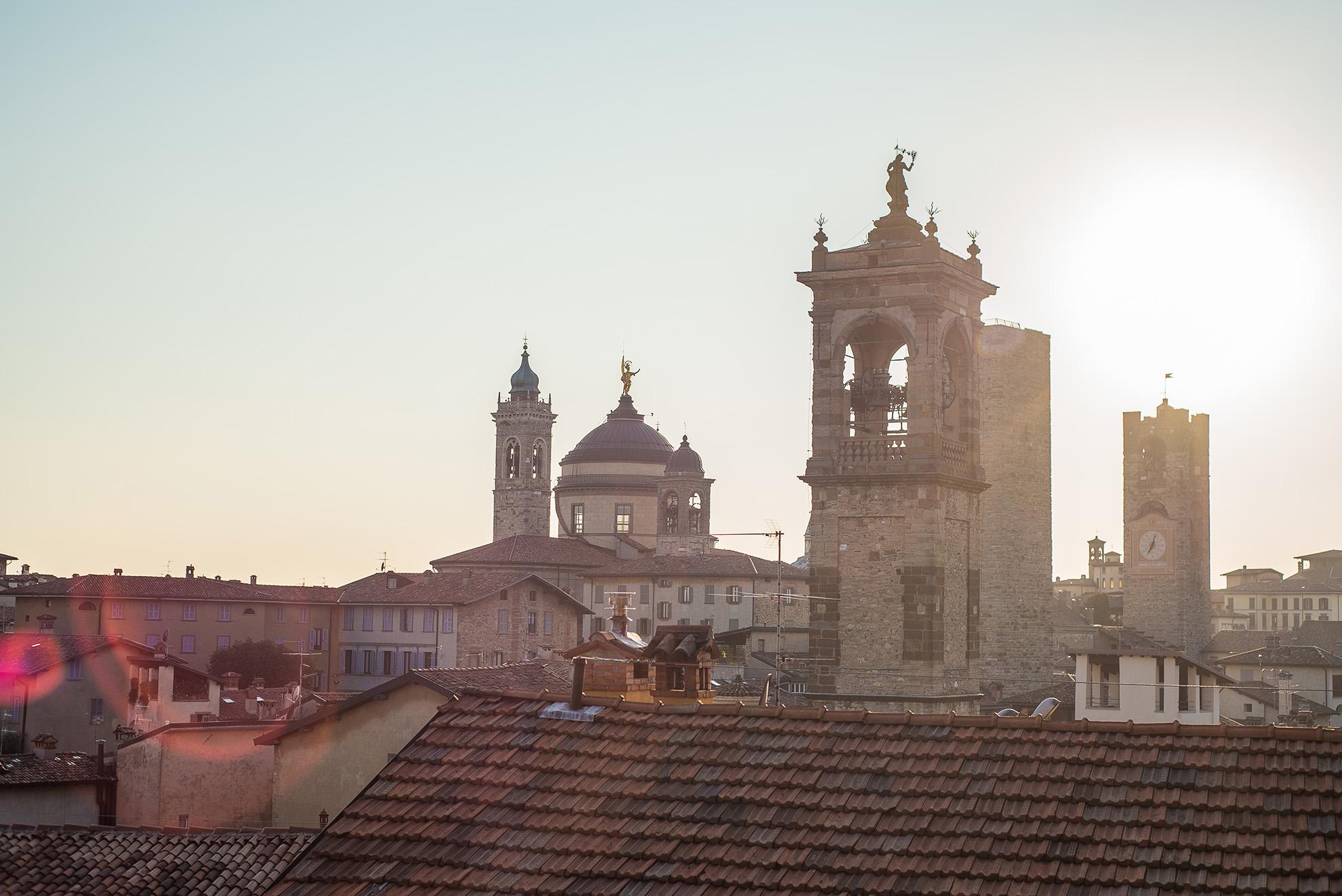 Bergamo - widok z tarasu