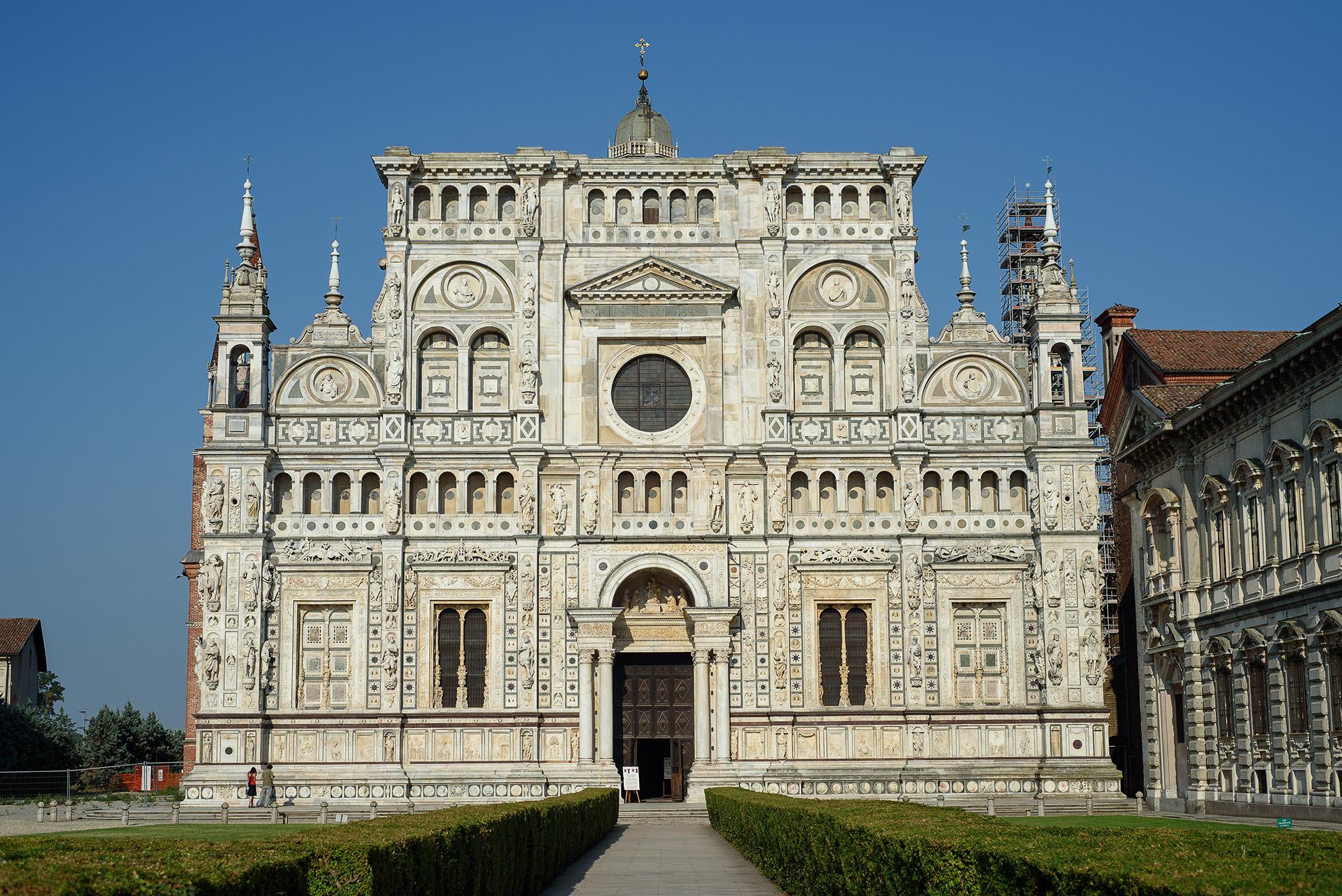 Certosa di Pavia - fasada kościoła