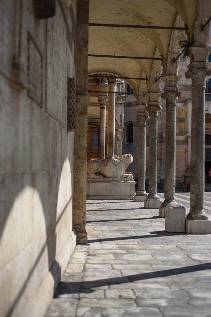 Podcienia katedry w Cremonie