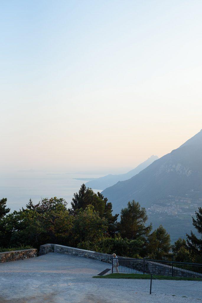 Eremo di Montecastello - widok na jezioro Garda