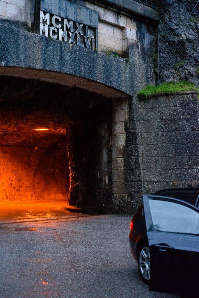 Tunel przy Lago di Sauris