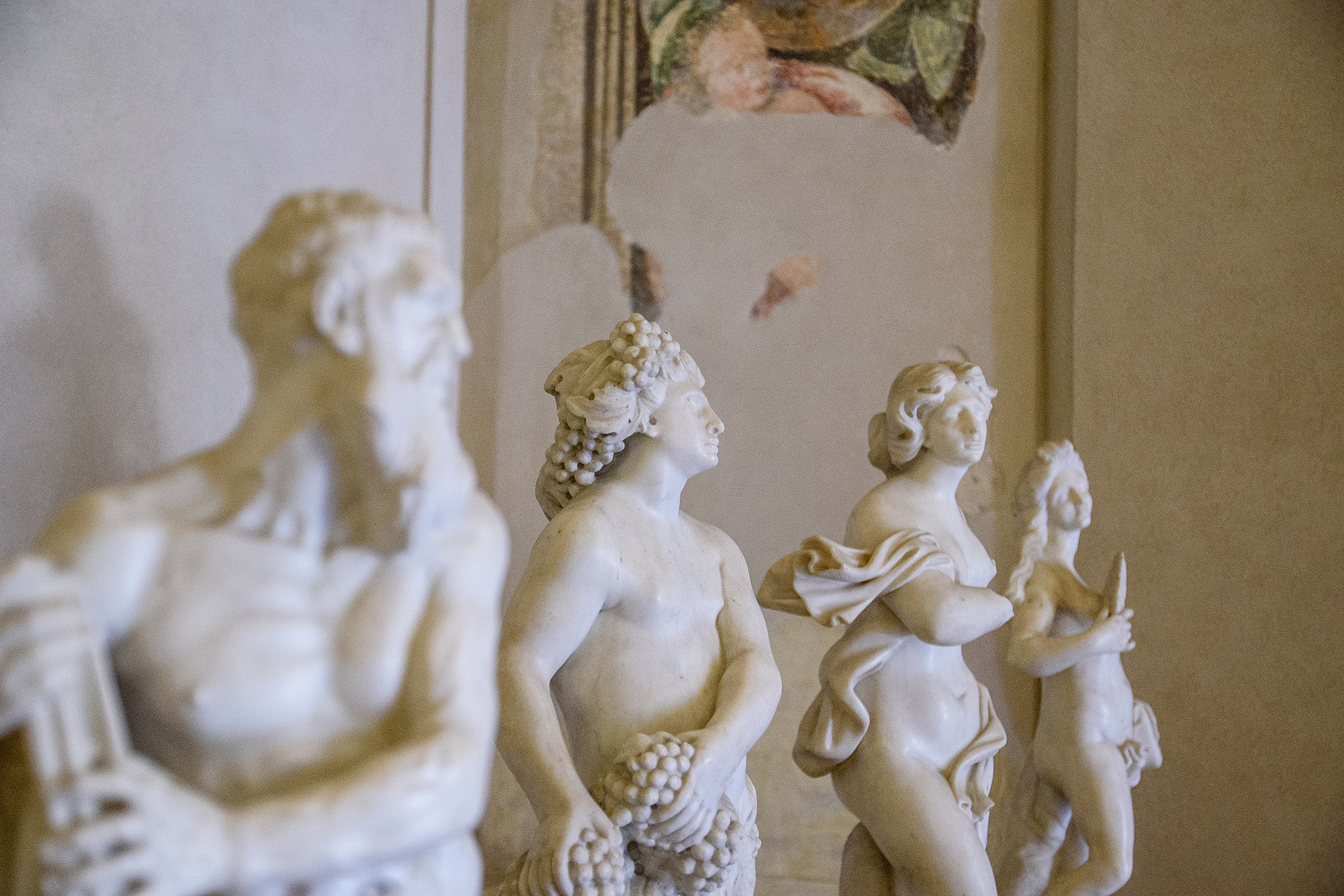 Rzeźby w Palazzo Ducale - Mantua