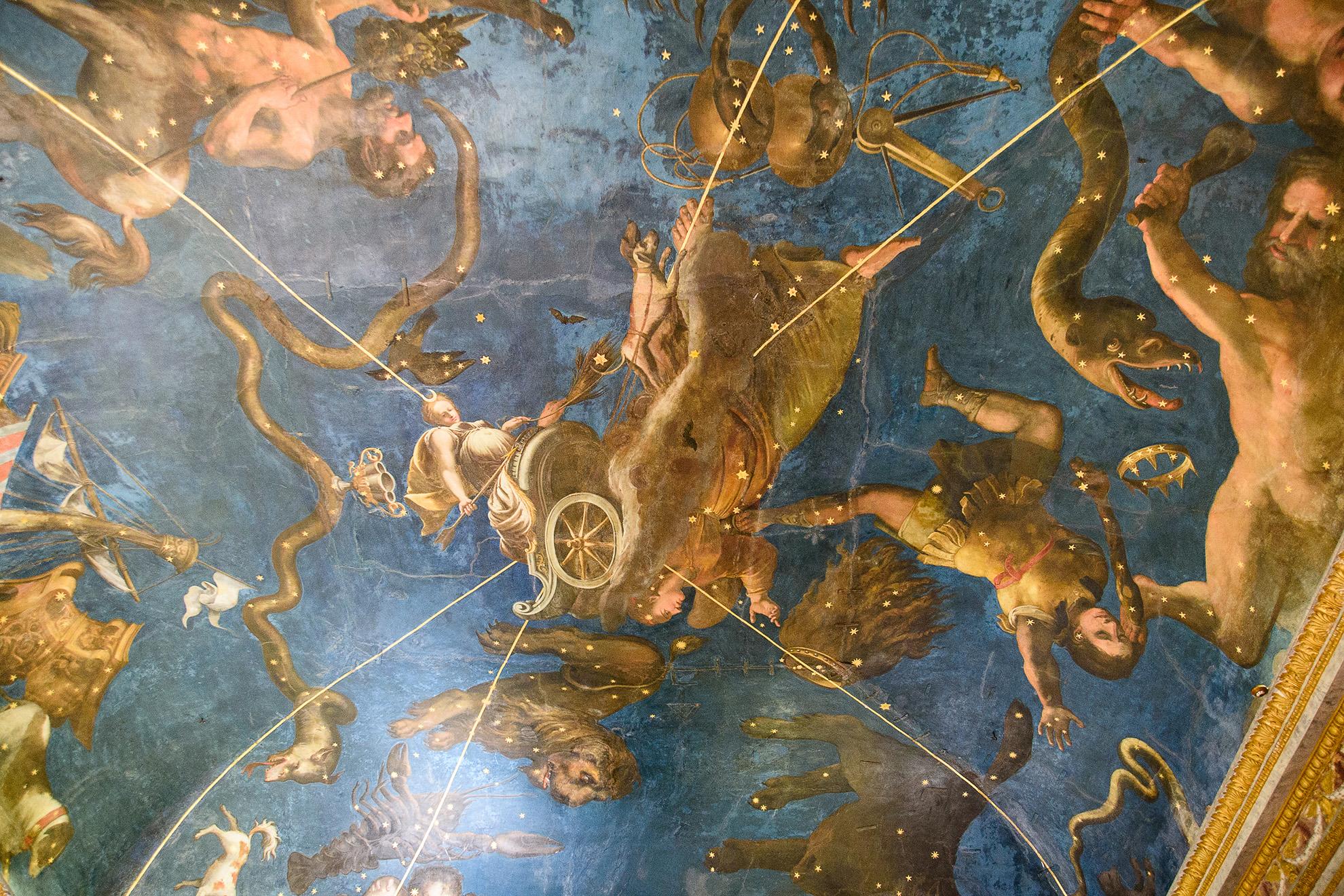 Gwiazdozbiór na suficie w Palazzo Ducale - Mantua