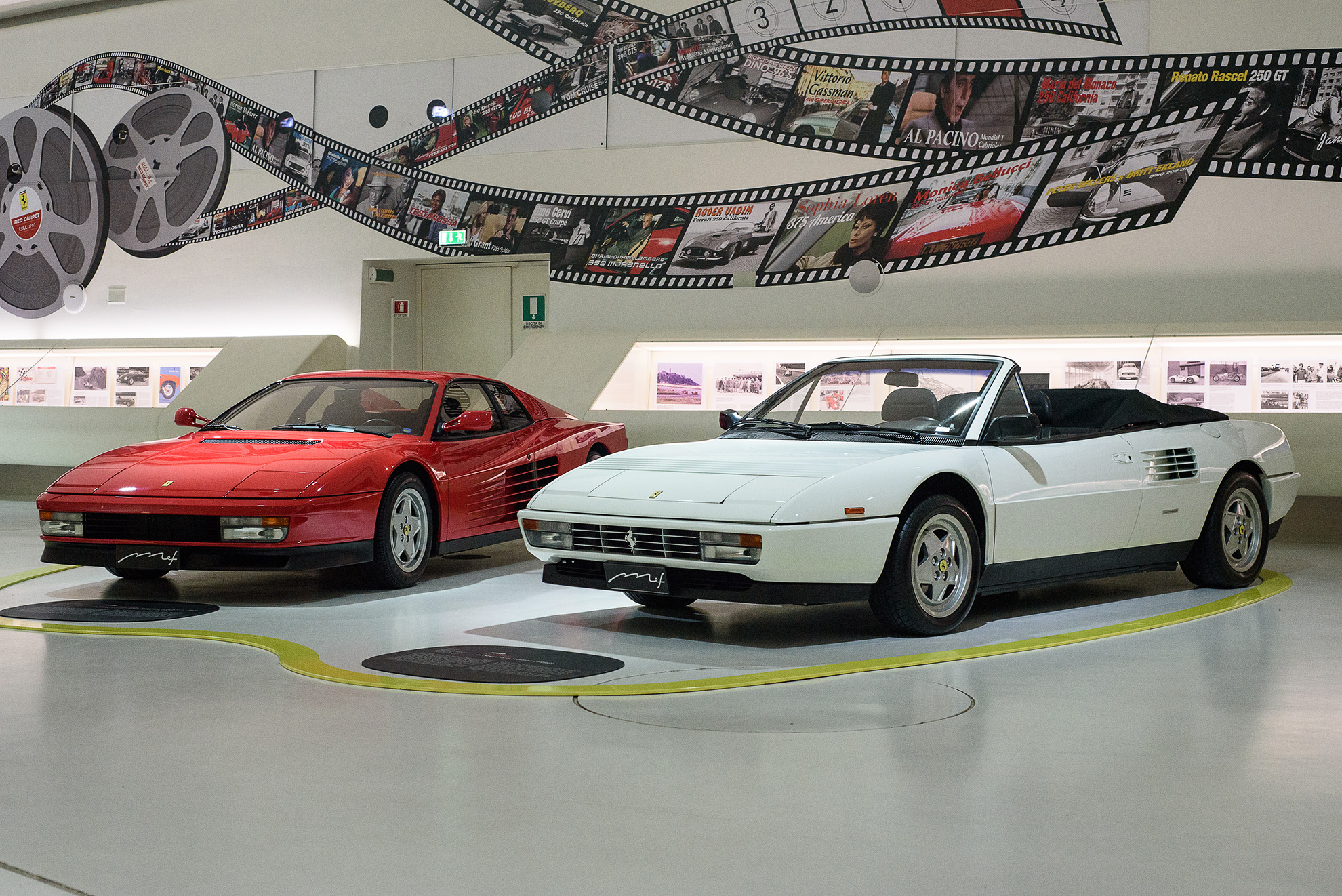 Muse Enzo Ferrrari - Ferrari Testarossa i Ferrari Mondial T
