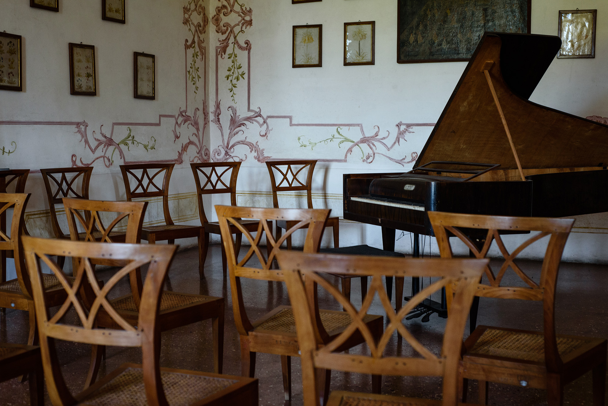 Wnętrza w Villa Pisani