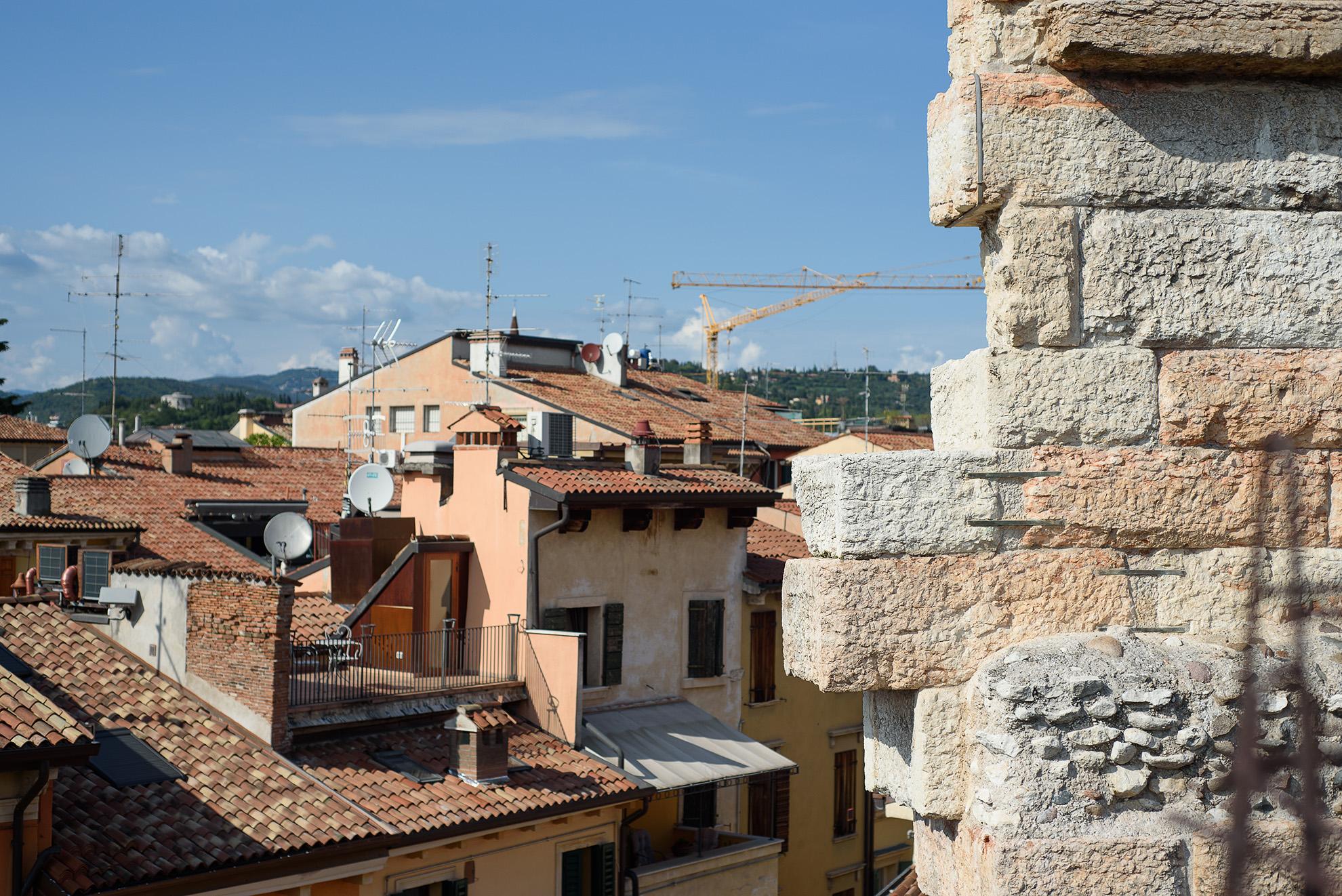 Widok z Areny w Weronie