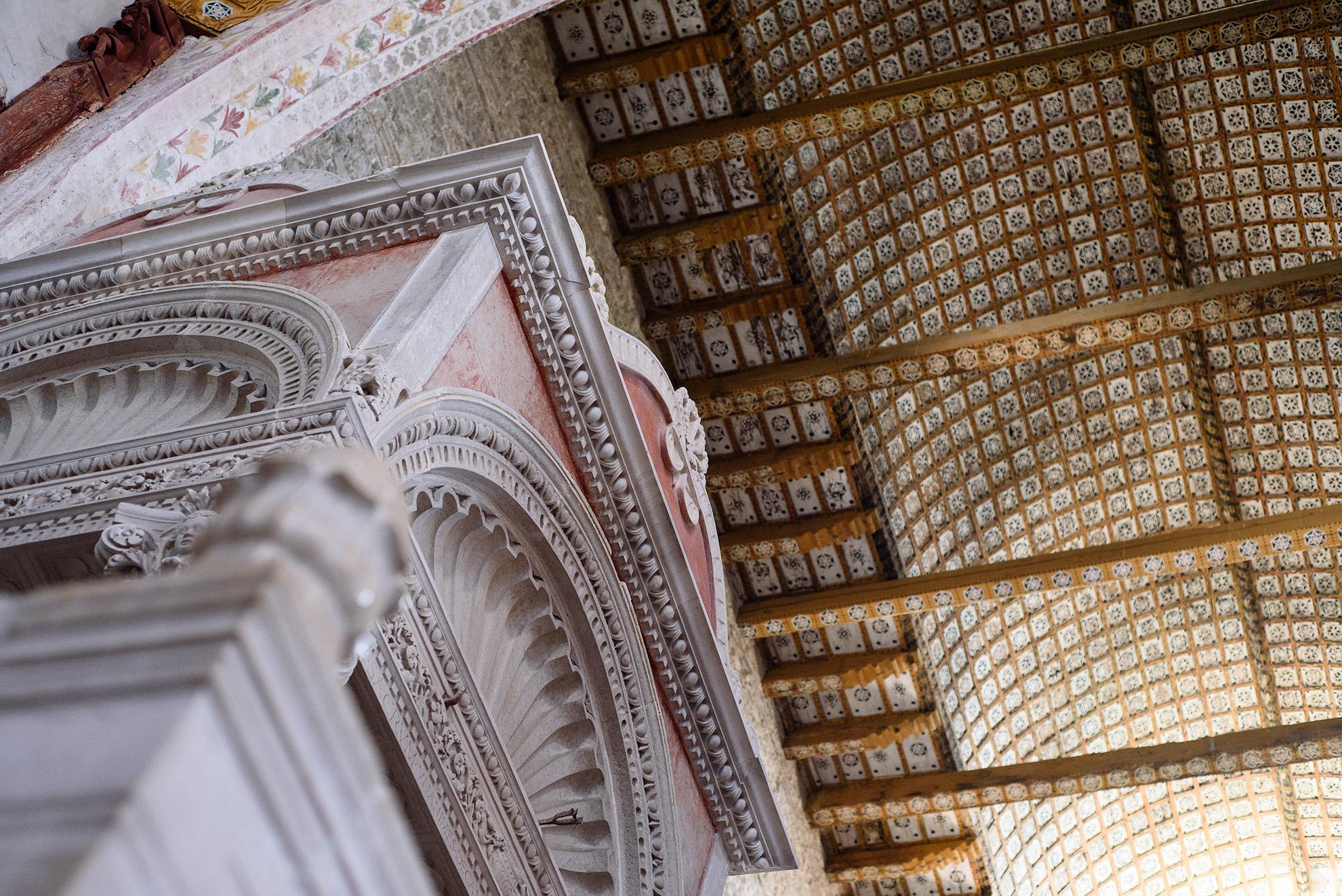 Sufit z XVI w. w bazylice w Aquilei