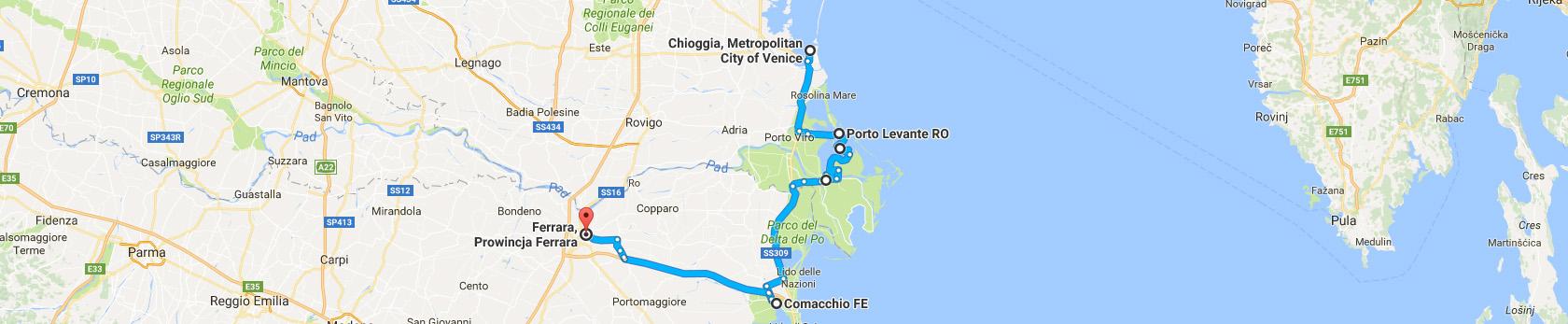 Trasa Chioggia - Ferrara