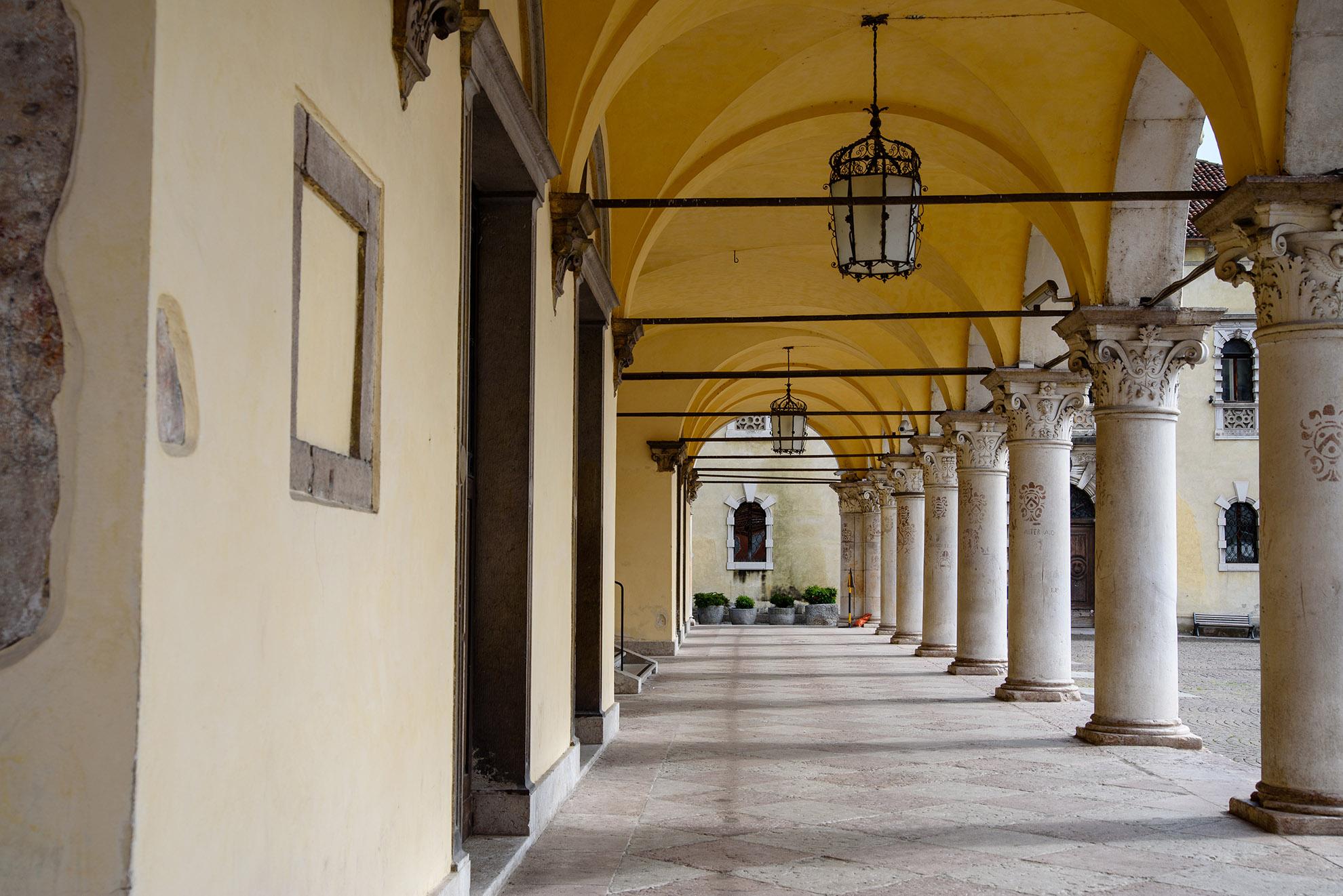 Podcienia w pałacu Rettori