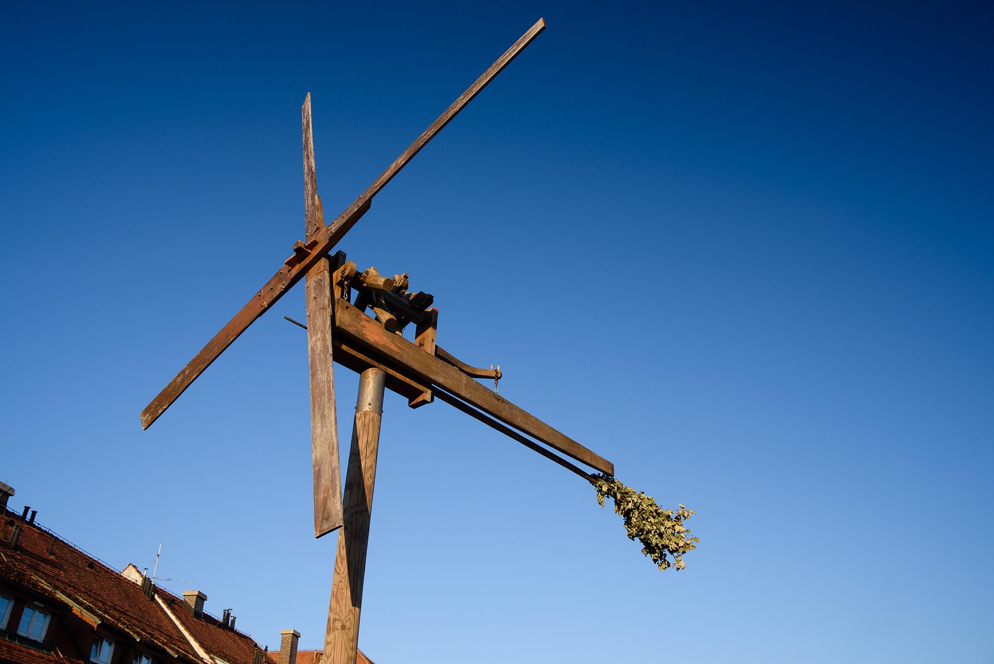 Maribor - wiatrak z gałązkami winogron