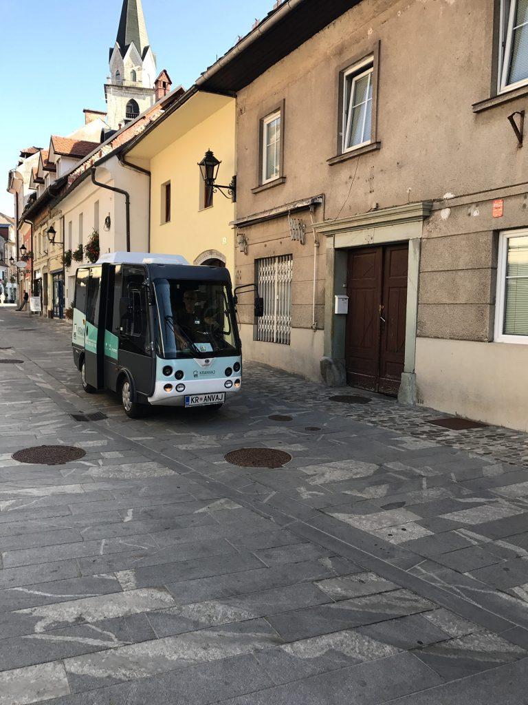 Kranvaj - elektryczny bus w Słowenii