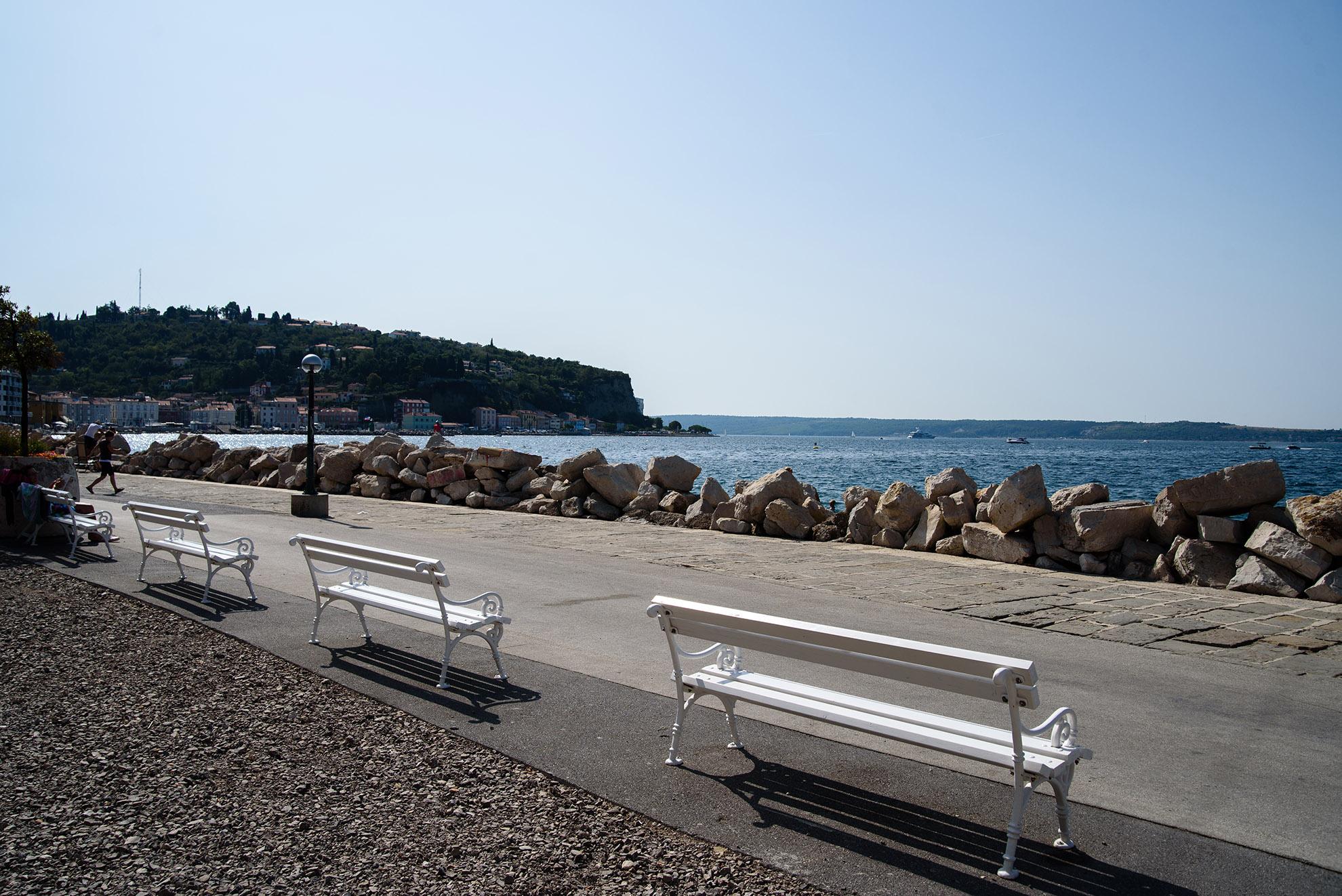 Promenada nad morzem - Piran