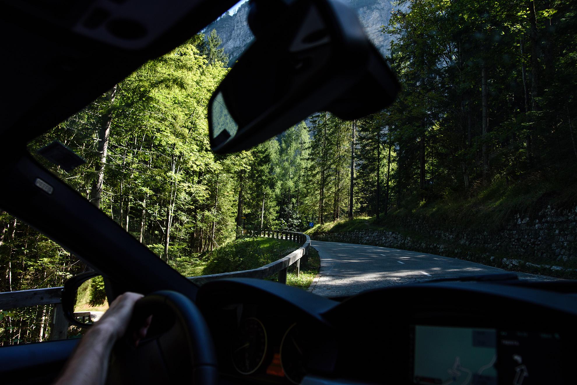 Wspinamy się na przełęcz Vršič