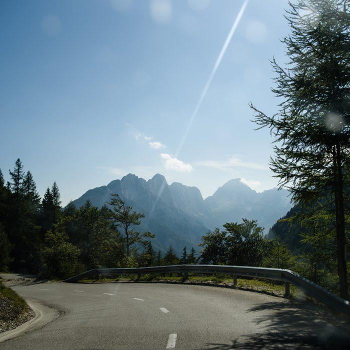 Przełęcz Vršič - zjazd w dół