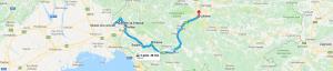 Trasa: Kojsko, Gonjače, winnica Ščurek, Štanjel, Vipava do Lubljany