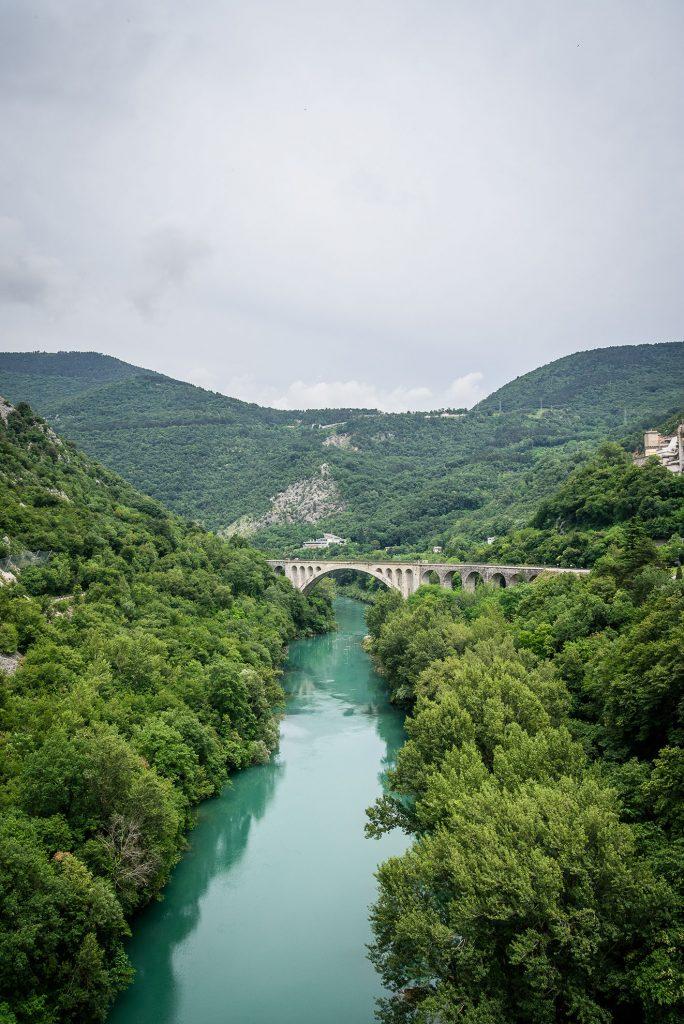 Dolina Soča - wiadukt Solkański