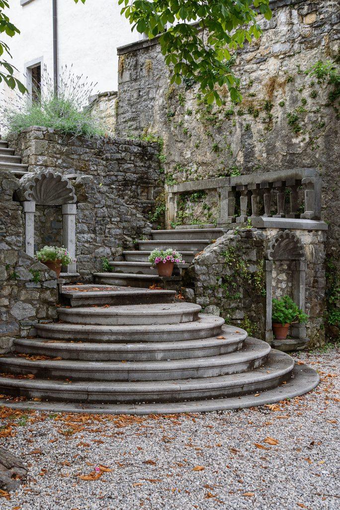 Schody do zamku Štanjel