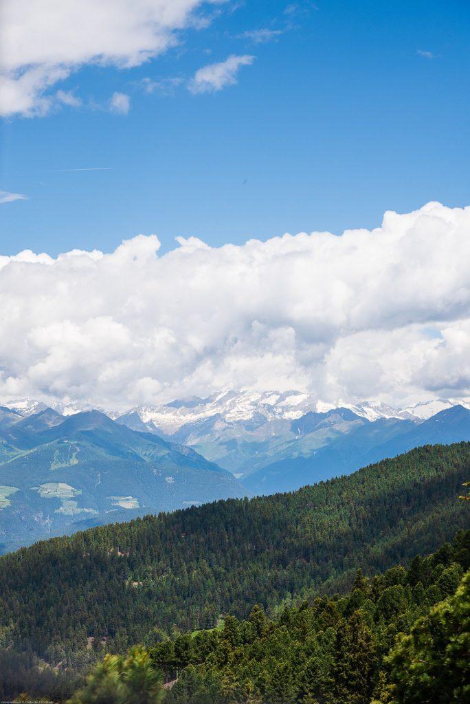 Panorama Dolomitów z góry Plose